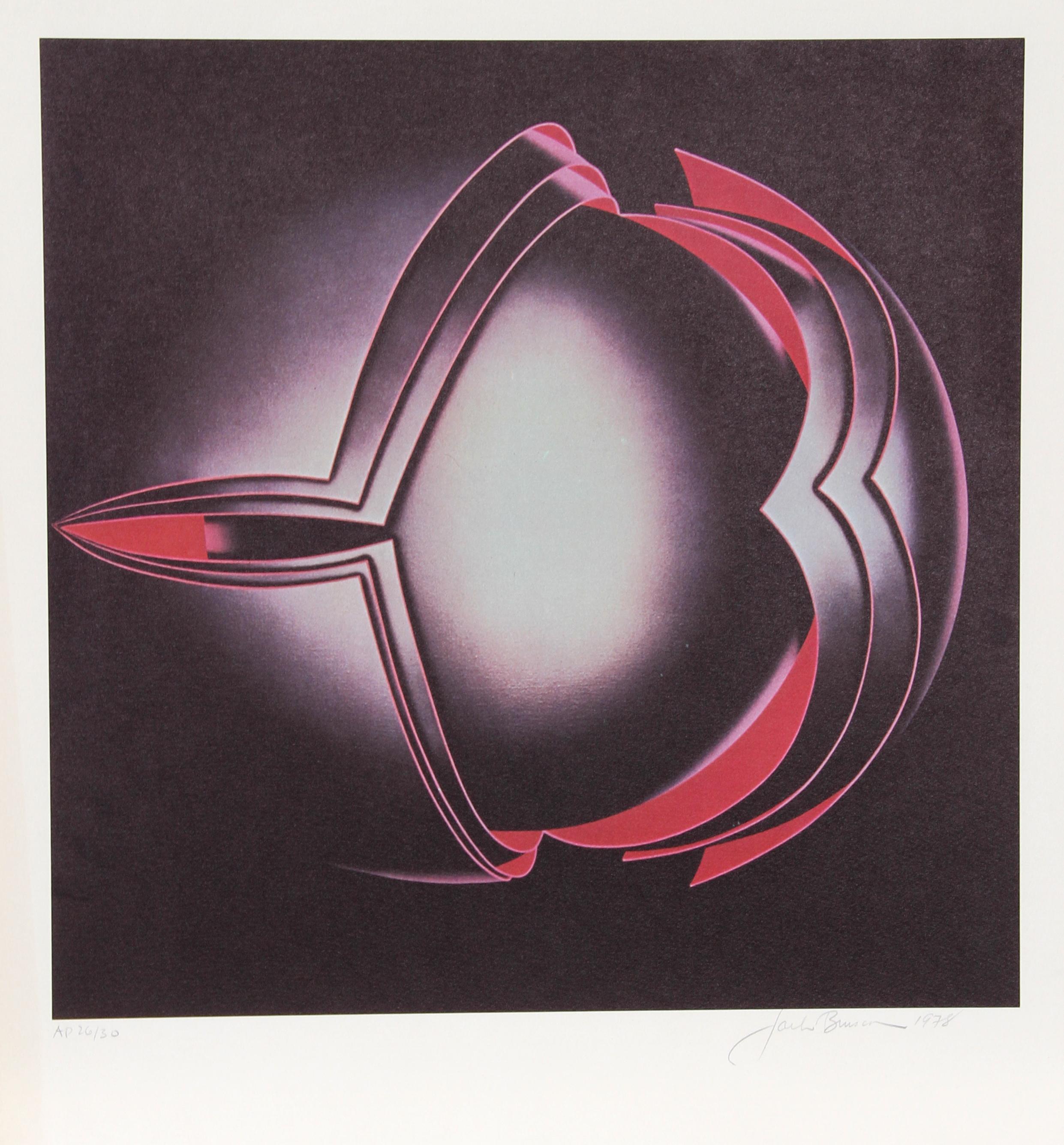 Diaz II, Op Art Silkscreen by Jack Brusca