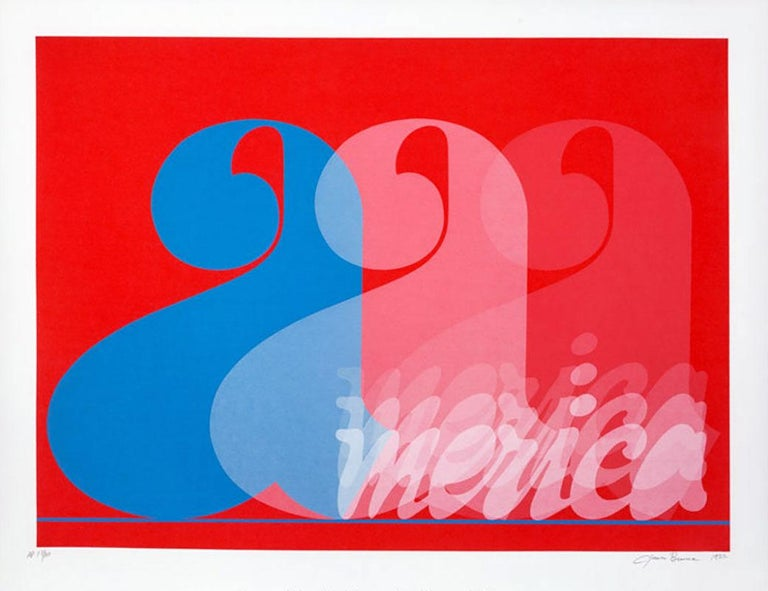 Jack Brusca Print - JACK BRUSCA - AMERICA, 1977 - SIGNED, NUMBERED AND DATED ARTIST'S PRINT