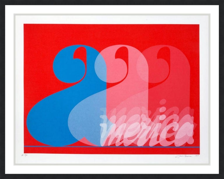 JACK BRUSCA - AMERICA, 1977 - SIGNED, NUMBERED AND DATED ARTIST'S PRINT - Print by Jack Brusca
