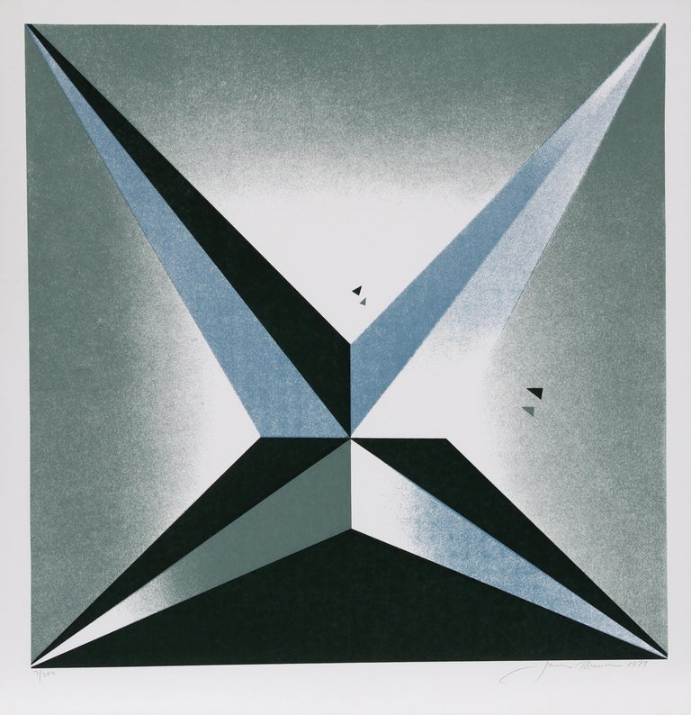 Artist: Jack Brusca, American (1939 - 1993) Title: Star Year: 1979 Medium: Serigraph, signed and numbered in pencil Edition: 200, AP 30 Image Size: 24 x 24 inches Size: 27 in. x 26 in. (68.58 cm x 66.04 cm)