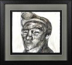 Welsh Miner.1970s Social Realist Work.Original Mixed Media Painting.Coal Mines.