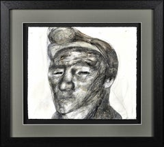 Welsh Miner.1970s Social Realist Work.Original Mixed Media Painting.Coal Mines.