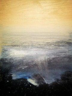 """Morning Light At Praa Sands"", Sunlit Cornish seascape, Tonalist, oil on canvas"