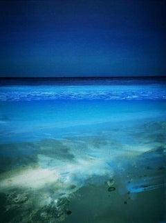 """Optimistic Evening"",  Cornish shoreline in evening light, oil on canvas"
