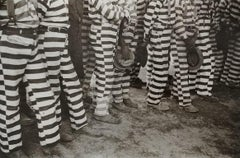 Convicts from the Greene County prison camp at the funeral of their warden