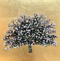 Amber Heart Gold Blossom - Contemporary Landscape Painting by Jack Frame