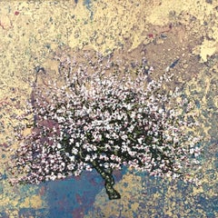 Marbled Pea Gold Blossom - Contemporary Landscape Painting by Jack Frame