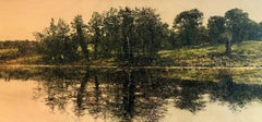 Panoramic Reflection - Contemporary, Landscape Painting by Jack Frame