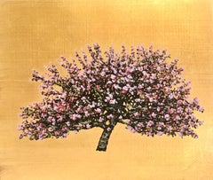 Red Diesel Cherry Blossom - Contemporary Landscape Painting by Jack Frame