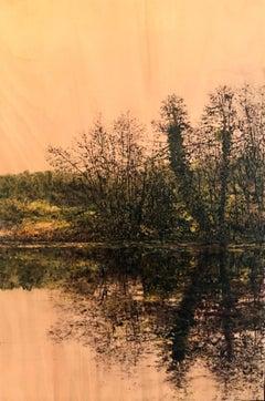Riverside Reflection I - Contemporary, Landscape Painting by Jack Frame