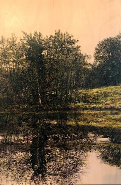 Riverside Reflection III - Contemporary, Landscape Painting by Jack Frame