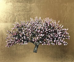 Sugar Pea Cherry Blossom - Contemporary Landscape Painting by Jack Frame