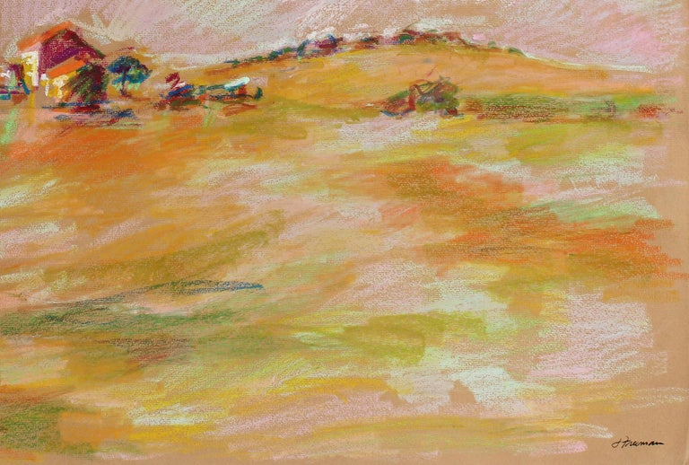Colorful Abstract San Francisco Landscape in Pastel on Paper, 1983 2