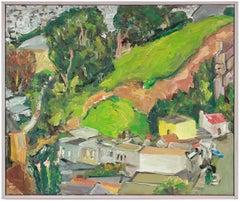 """Noe Valley"" San Francisco Hillside Landscape, Oil Painting, March 2, 2002"