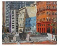 San Francisco Buildings, Oil on Canvas, 1992