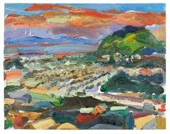 San Francisco Sunset, Landscape in Oil, 2010