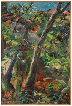 Vibrant Expressionist Forest Landscape 2002 Oil