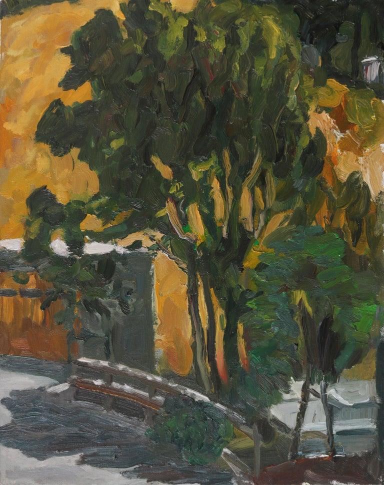 Jack Freeman Landscape Painting - Warm Expressionist Landscape 2000s Oil Painting