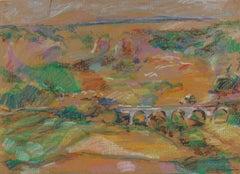 Warm Rolling Fields 20th Century Pastel