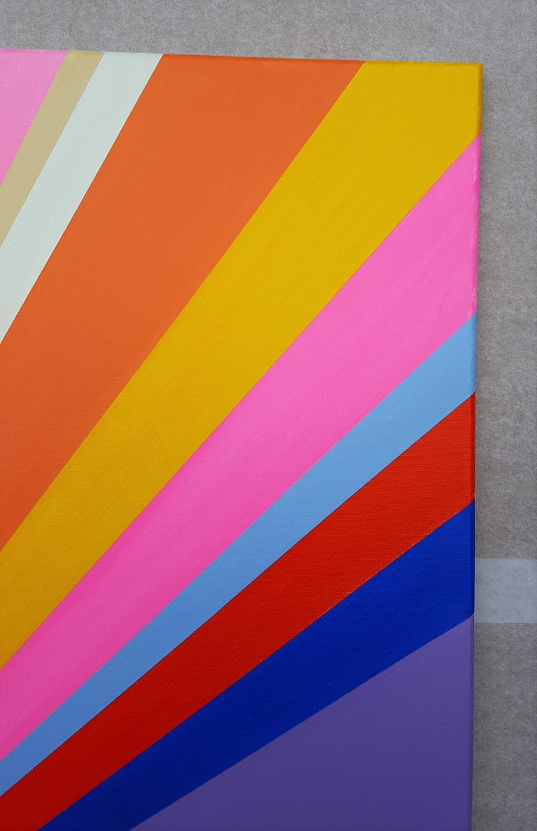 Diamond XVIII - Pink Abstract Painting by Jack Graves III