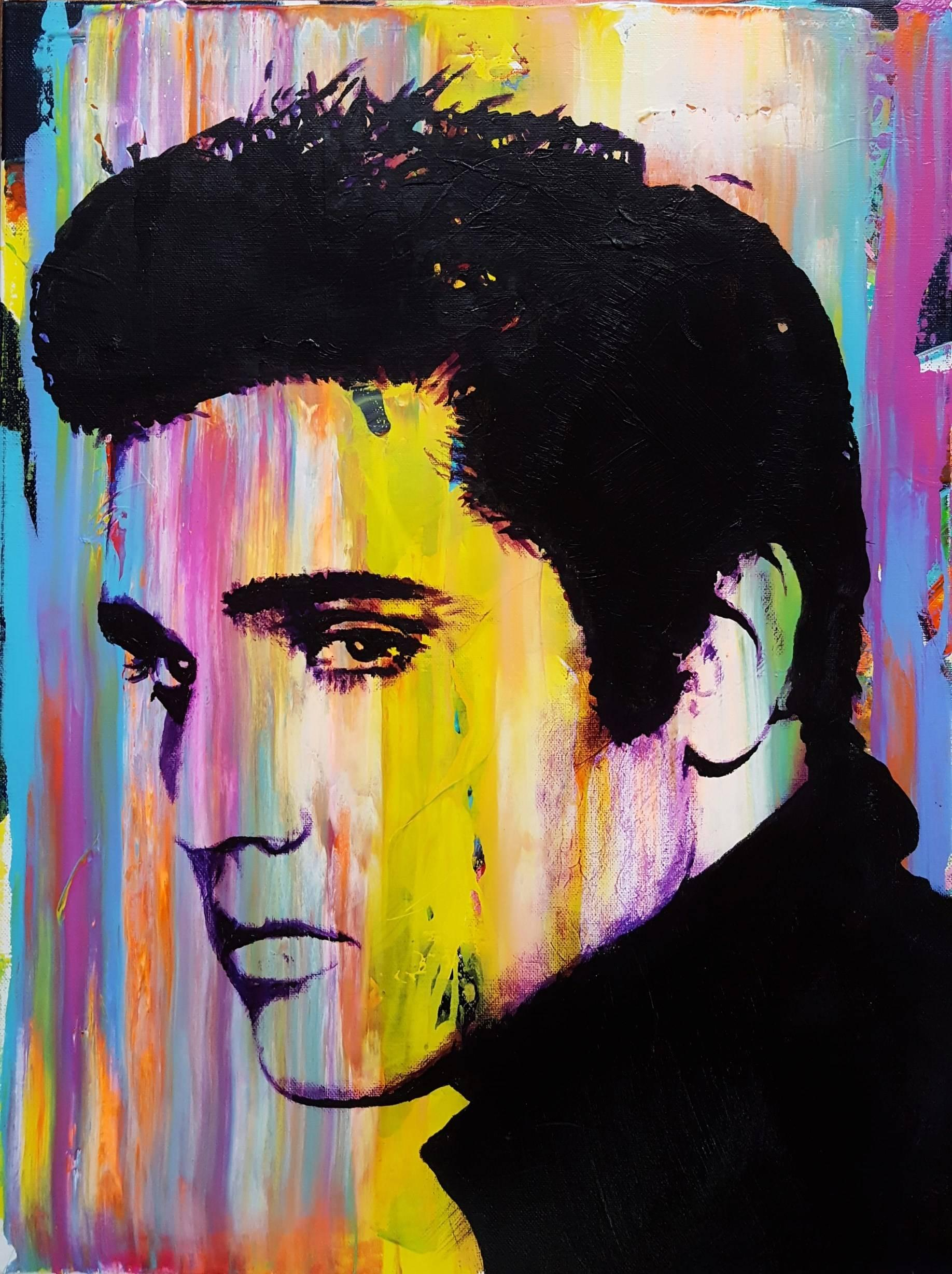 Jack Graves III - Elvis Presley Icon III, Painting at 1stdibs