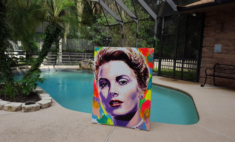 Grace Kelly Icon VI - Painting by Jack Graves III