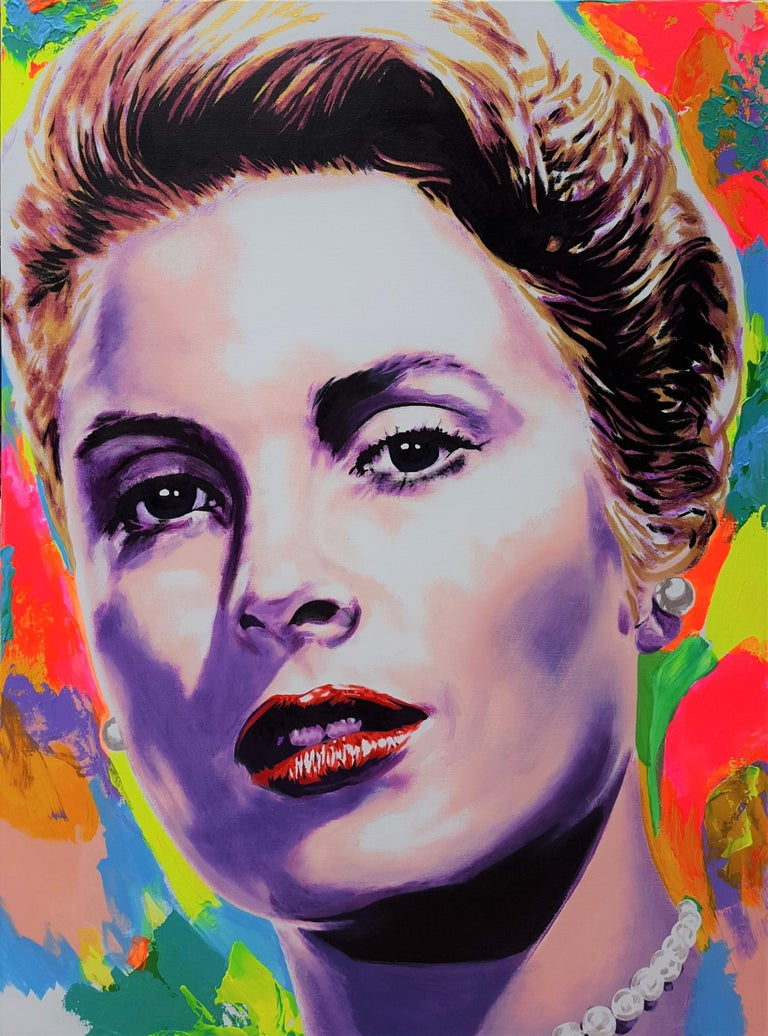 Jack Graves III Portrait Painting - Grace Kelly Icon VI
