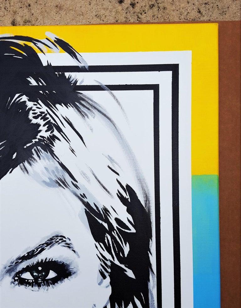 Karlie Kloss Icon III - Beige Portrait Painting by Jack Graves III