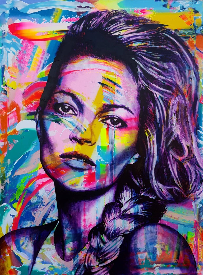 Jack Graves III Portrait Painting - Kate Moss Icon III
