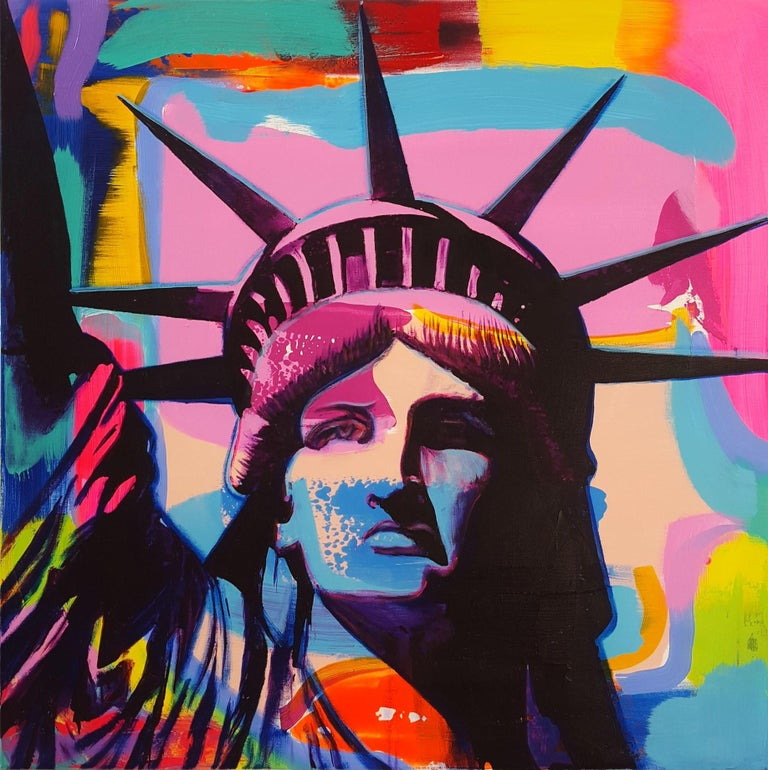 Jack Graves III Portrait Painting - Liberty Icon III