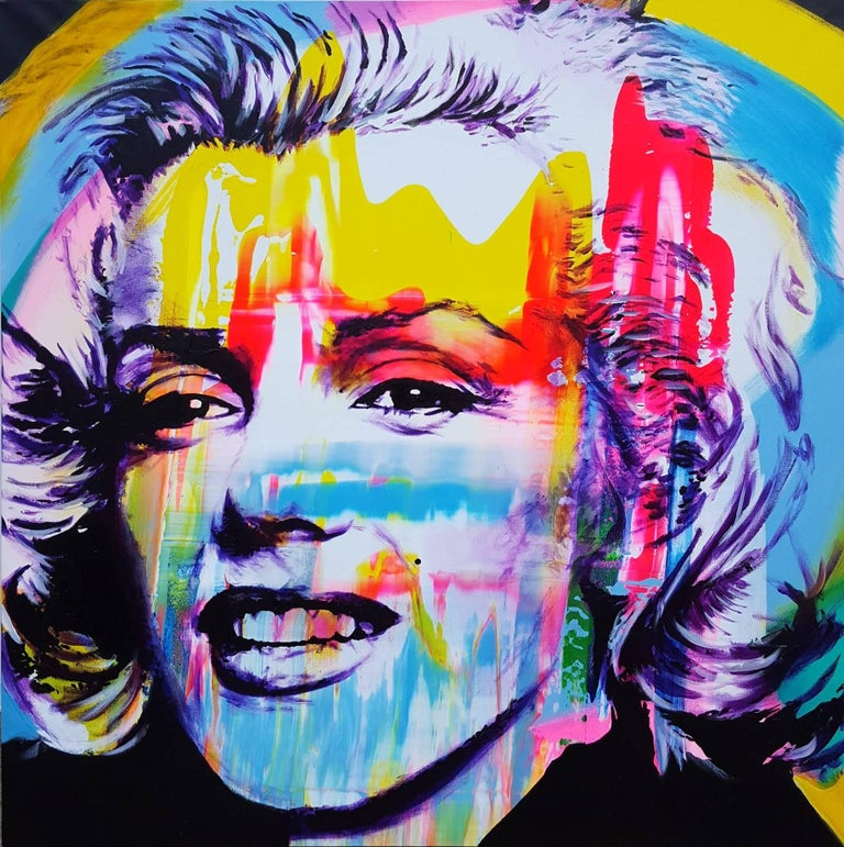 Jack Graves III Portrait Painting - Marilyn Monroe Icon III