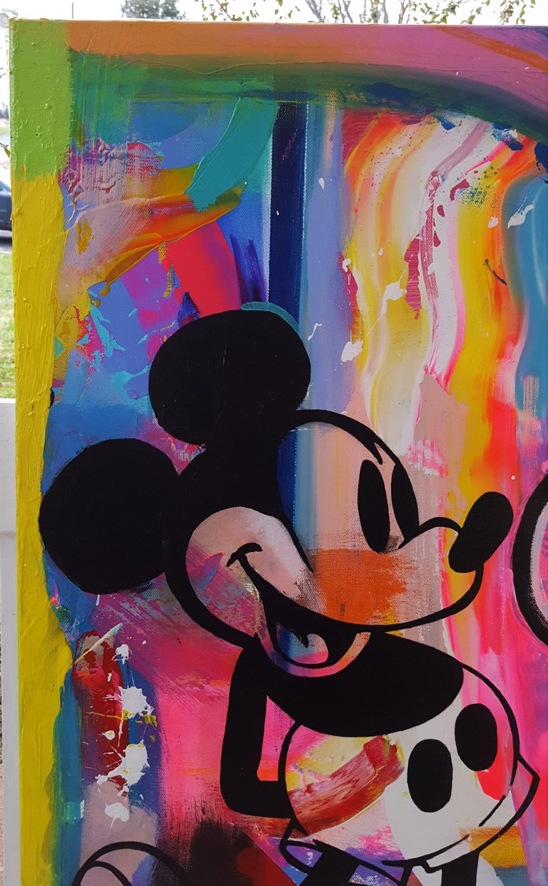 Mickey Mouse, Snoopy, and Woodstock Group Icon - Contemporary Painting by Jack Graves III