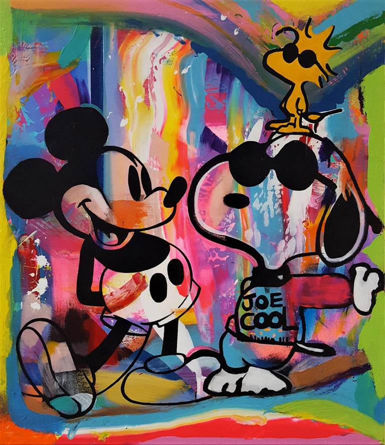 Jack Graves Iii Mickey Mouse Snoopy And Woodstock Group Icon