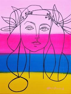 Picasso Face Icon (Françoise Gilot)