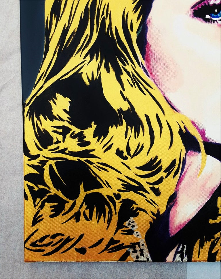 Rosie Huntington-Whiteley Icon IV - Painting by Jack Graves III