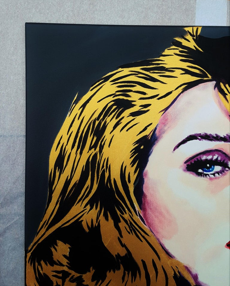 Rosie Huntington-Whiteley Icon IV - Contemporary Painting by Jack Graves III