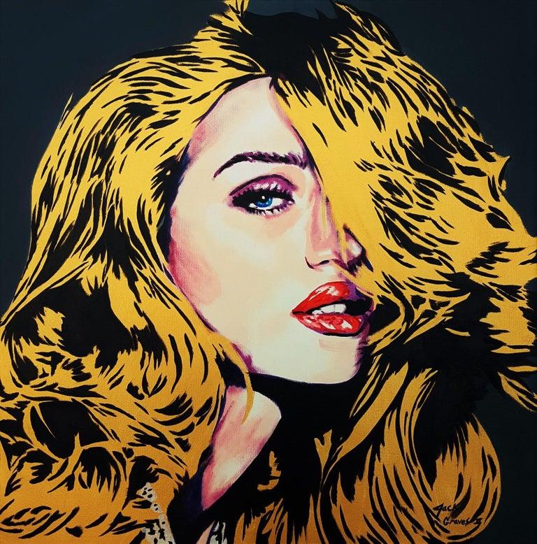 Jack Graves III Portrait Painting - Rosie Huntington-Whiteley Icon IV