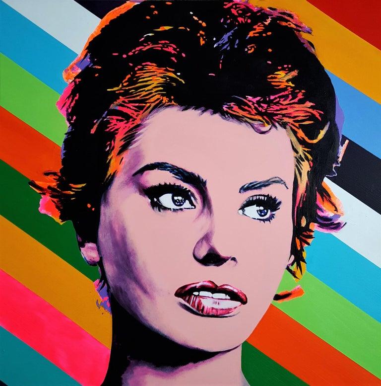 Jack Graves III Portrait Painting - Sophia Loren Icon II