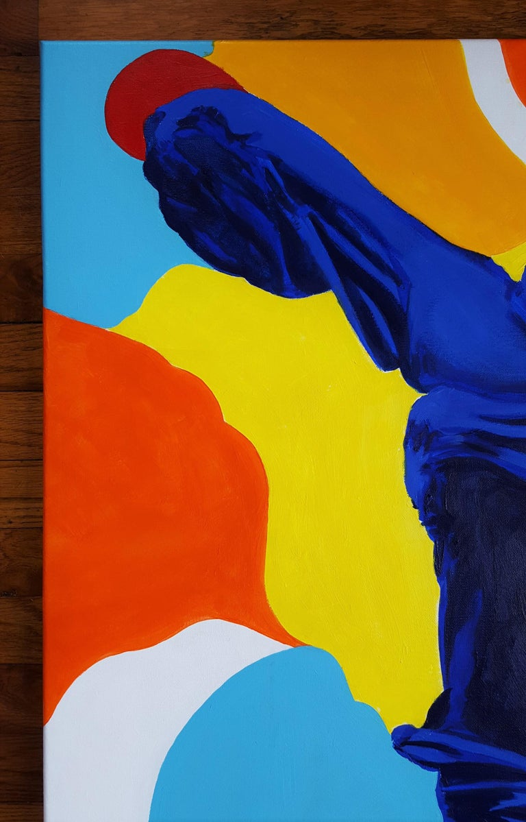The Victory of Samothrace Icon (Yves Klein) - Contemporary Painting by Jack Graves III