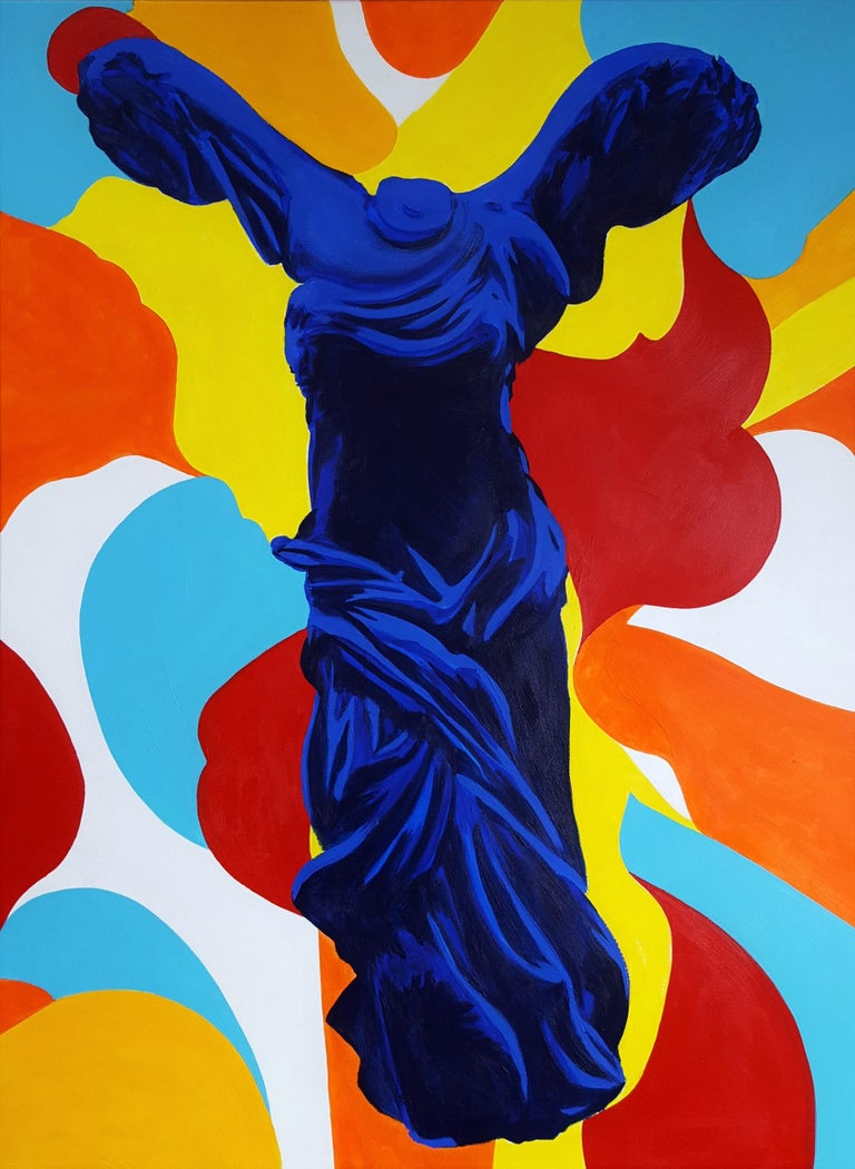 Jack Graves III Figurative Painting - The Victory of Samothrace Icon (Yves Klein)