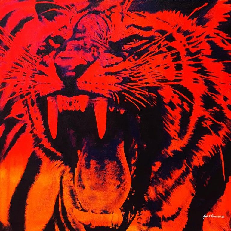 Jack Graves III Animal Painting - Tiger Icon