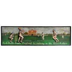 """Jack Hobbs leads England to victory in the 1926 Ashes"" Wood Carved Panel"