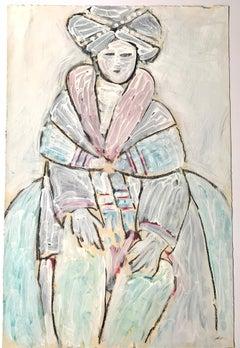"""Memories of Frida I"" American Modernist Figurative Painting Académie Julian"