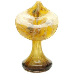 """Jack-in-the-Pulpit"" Cornucopia Flower Vase with Gold Flecks"
