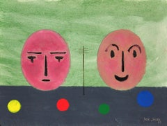 Faces & Telegraph Poles by Jack Jones.The Welsh Lowry. Original Modern Abstract