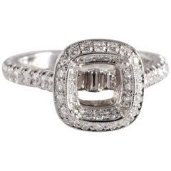 57cf5f416 Jack Kelege 1.23 Carat Diamond Platinum Ring Mounting VVS1-VS2; F-G-H