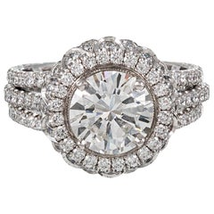 Jack Kelege 1.78 Carat Center Diamond Ring