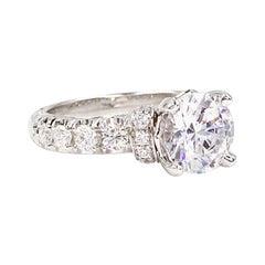 Jack Kelege 18 Karat White Gold Diamond Engagement Ring Setting