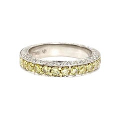 Jack Kelége Platinum White and Yellow Diamond Band