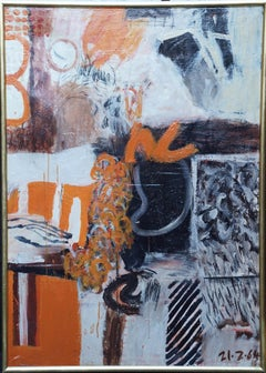 Scottish Abstract - Exhibited 1965 Abstract Expressionist art oil painting